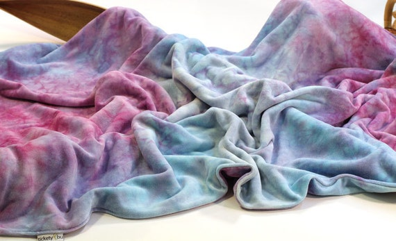 Bamboo Velour Baby Blanket, the Cuddle Blanket, in Girls Rock by Tickety Bu