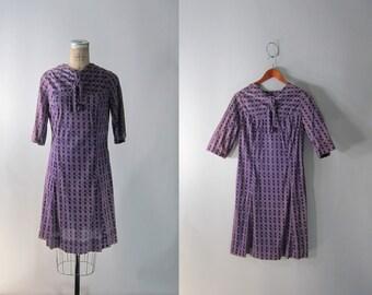 vtg 1960s Plum Purple Ultra Mod Scooter Dress // Medium-Large