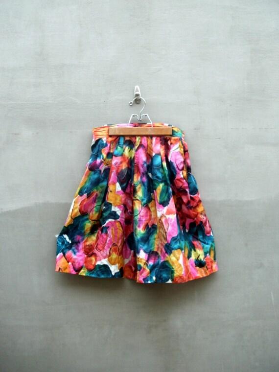 vintage grunge high waist Madam Clio silk shorts medium