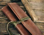 Olive - Leather Tobacco Pouch