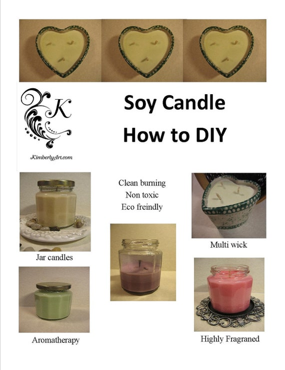 Soy candle how to DIY fragranced aromatherapy jar