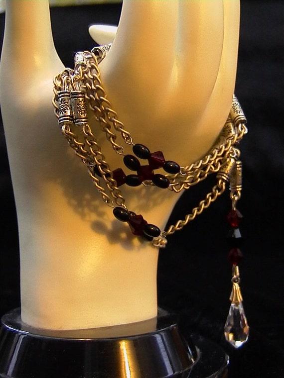 Persnickety - Swarovski Crystal and Silver Necklace - Bracelet - Belt - Hair Jewelery