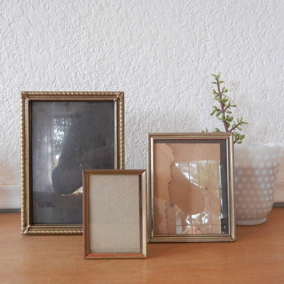 Vintage Gold Metal Picture Frames, A Set of 3, An Instant Collection