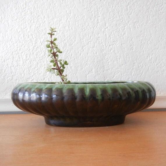 Vintage Planter, Large Green Planter, Jenkins Ceramics USA  J-10