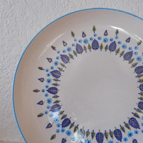 Vintage Swiss Chalet Plates, Set of 5, 1960s Mid Century Dinnerware