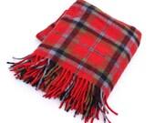 Faribo Plaid Fluff Loomed Wool Blanket