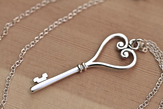 Key to My Heart Necklace in Sterling Silver