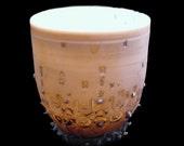 Translucent Porcelain Industrial Inspired Pattern Teacup