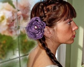 Deep purple violet  jeweled  special occasion accessory for hair or brooch
