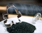 Black sanding sugar - Baking sprinkles - Halloween cakes, cookies, candy sparkle - comes with recipes