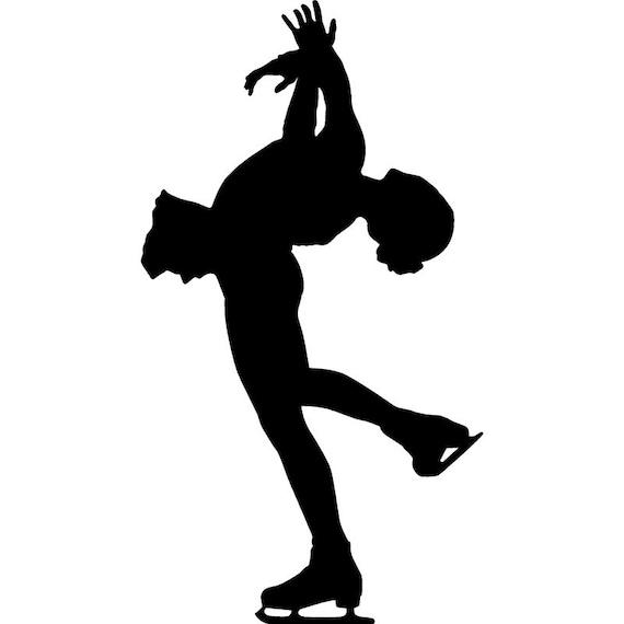 Male figure skating silhouette