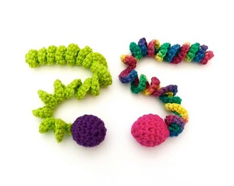 Jingle Bell Ball Cat Toys with Stretchy Curlicues