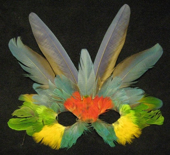 Macaw Feather Mask