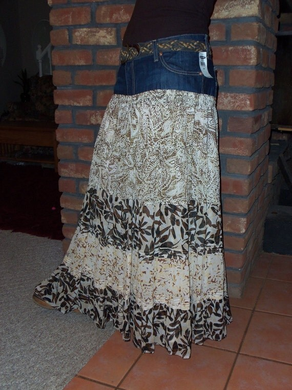Old Navy Jean Skirt with a twist