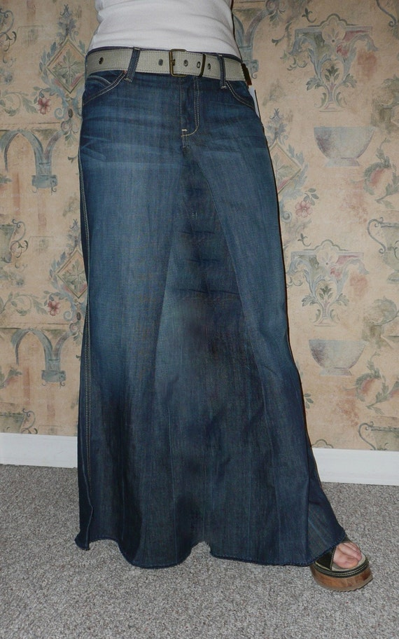 I'm an Apostolic Pentecostal, and our churches teaches how skirts are modest and we should dress modest, so I made the decision to stop wearing pants and only skirts and dresses. And jean skirts are like most Apostolics' go-to for everyday wear, but they're hard to find, and expensive.