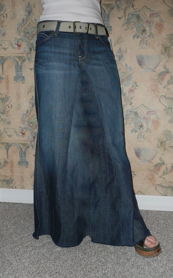 custom to your size jean skirt size 12 14 16 18