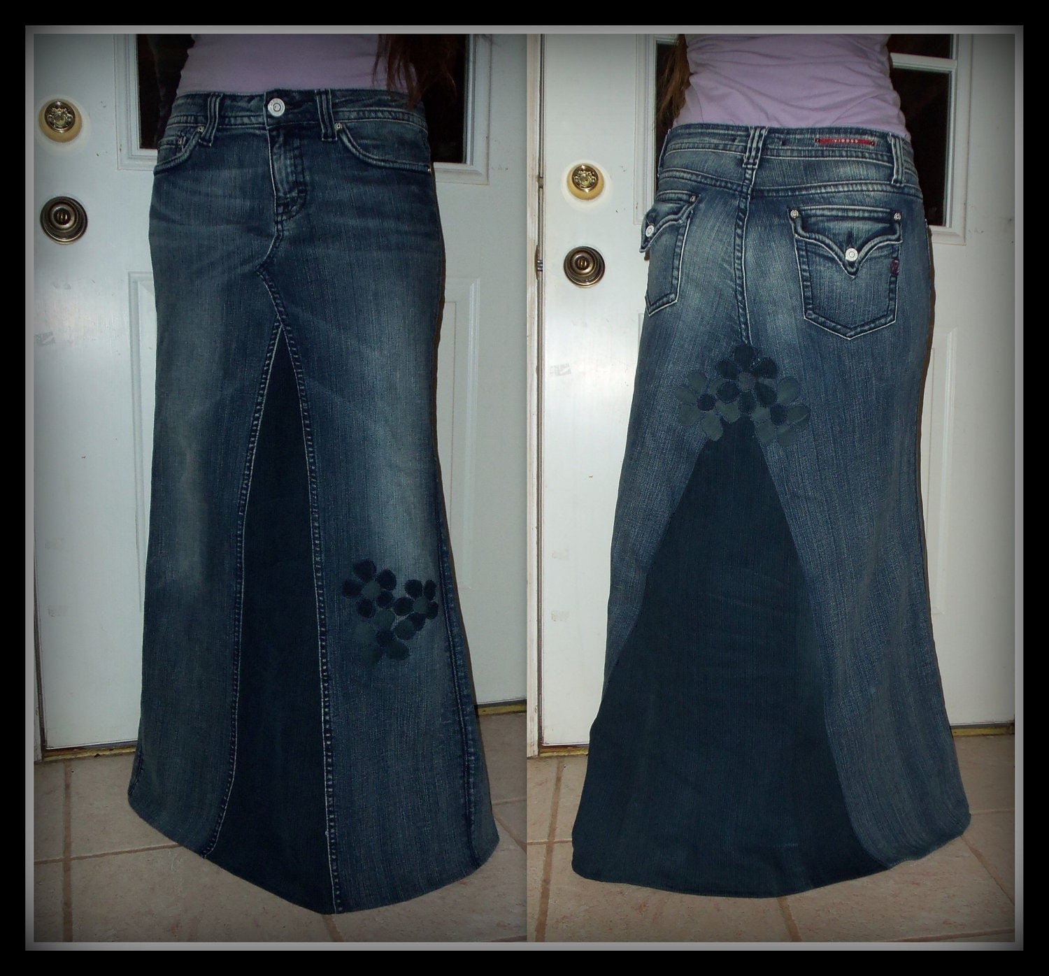 Plus Size Blue Jean Skirts - Jeans Am