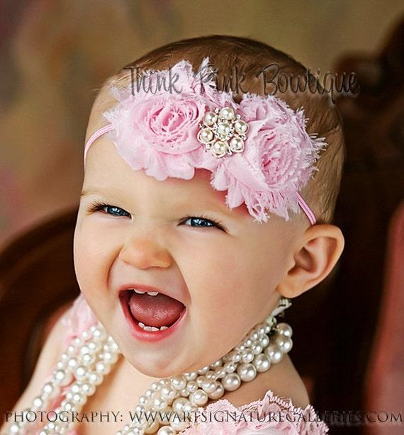 Pink Baby Headband,pink headband,baby headbands,Easter headband , baby girl headband, valentines headband, infant headband, Hair bows (2)