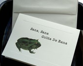 Feeling Kinda Froggy Note Card-Get Well Soon-With Fly