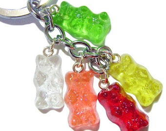 Candy Bear Key Chain - miniature food charm accessories