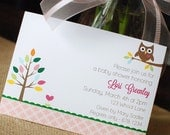 Owl Love You PRINTABLE Party Invitation - (girl, boy & neutral versions) - anna and blue paperie