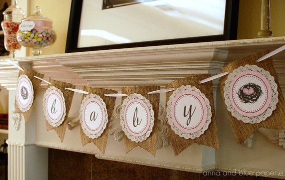 Items Similar To Feather Her Nest Baby Shower Banner