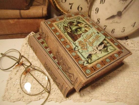 Antique German Poetry Books - Schiller's Poems & Goethe's Poems - Set of 2
