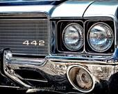Classic muscle car Oldsmobile 442 original print