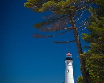 Michigan's Crisp Point Lighthouse color print