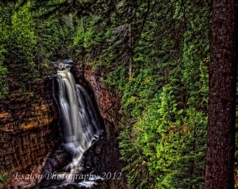 Miners Falls waterfall in Michigan's Pictured Rocks National Lakeshore original color print