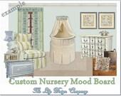 Custom Nursery Mood Board Design