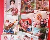 Vintage Valentine Girls and Angels Wafer Paper Edible Images