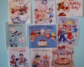 Vintage Birthday Party Invitation Edible Wafer Paper for your cookies, fondant, cake, cupcakes or chocolates