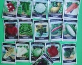 Vintage Vegetable Seed Packet Edible Image wafer papers for your iced sugar cookies, fondant, cupcakes, cake or chocolates