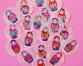 Matryoshka Russian Nesting Doll Edible Image wafer papers for your iced cookies, fondant, cupcakes, cake or chocolates