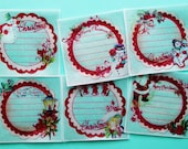 Christmas Gift tag Edible Image Wafer Papers for your iced sugar cookies