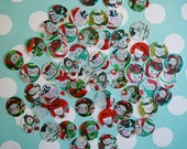 """1"""" Snowman Edible Image Wafer Papers - approximately 70 wafer circles"""