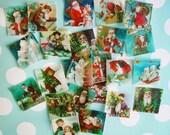 "5 DOZEN 1 1/2"" Square Santa Claus /Christmas Edible Image Wafer Paper Images -- GREAT VALUE"
