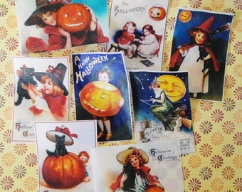 Large Vintage Halloween Postcard Edible Image Wafer Papers