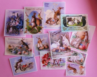 Vintage Easter Bunnies Edible Image Wafer Paper for cookies, cakes, fondant and chocolates