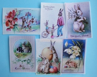 Assorted Easter Bunny edible image wafer papers for cookies, fondant, chocolates and cake
