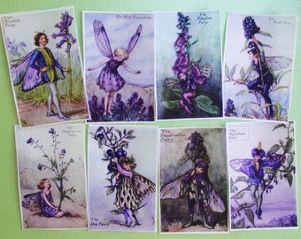 Purple Fairy Edible Image Wafer Papers for your iced cookies, cake, fondant or chocolates