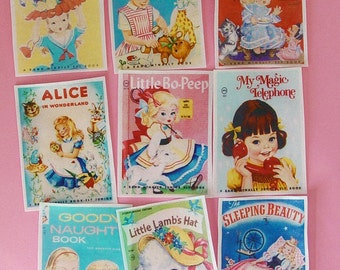 Little Girl  Vintage Story book edible image wafer papers for your iced cookies, fondant, cake, or chocolates