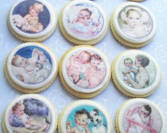 Vintage Baby Edible Image Wafer Paper 1 doz
