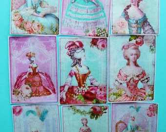 GORGEOUS Marie Antoinette Princess Party Edible Image Wafer Papers for your iced cookies, fondant cake, chocolates
