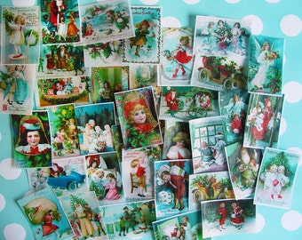 NEW Christmas Children 5 Dozen Edible Image wafer paper designs of--Incredible VALUE for your iced cookies, cupcakes, cakes and baked goods