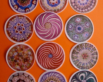 Kaleidoscope Edible Image wafer papers for your iced cookies, cupcakes, cakes and chocolates