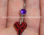 Kingdom Hearts Heartless Belly Ring
