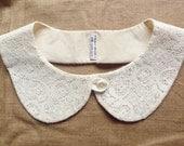 peterpan collar - summer collar - lace on cream - multiple cut