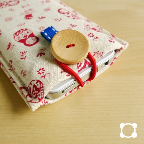 minimal pouch - for iphone ipod or other similar size cell, or cash wallet pouch